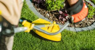 Rasen trimmen: So benutzt man einen Rasentrimmer richtig